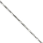 Sterling Silver 9in 1.5mm Round Snake Chain Anklet