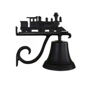 Montague Metal Cast Bell with Black Train Ornament