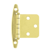 Liberty Overlay Hinge without Spring, Brass Plated, H01010C-PB-O1