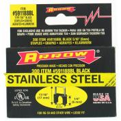 Arrow Fastener Co. 591188BLSS 0.6cm X 0.8cm Black T59 Stainless Steel Staples