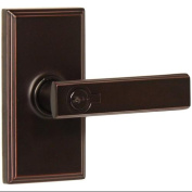Weslock 3740P Utica Keyed Entry Door Lever Set with Woodward Rose from the Elega