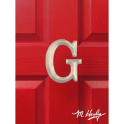 Michael Healy Designs MHMG2 Monogram Letter G Nickel Door Knocker