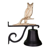 Montague Metal Cast Bell with Gold Owl Ornament