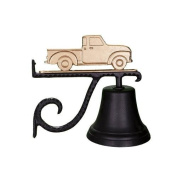 Montague Metal Cast Bell with Gold Classic Truck Ornament