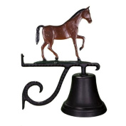 Montague Metal Products Cast Bell with Colour Gaited Horse