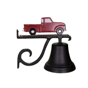 Montague Metal Cast Bell with Red Classic Truck Ornament