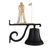 Montague Metal Cast Bell with Gold Putter Ornament
