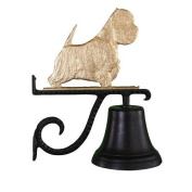 Montague Metal Products Cast Bell with Gold West Highland White Terrier