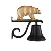 Montague Metal Cast Bell with Gold Bear Ornament