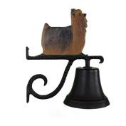Montague Metal Cast Bell with Colour Yorkshire Terrier Ornament