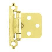 Brainerd Self-Closing Overlay Hinge, Brass Plated, H0103BV-PB-O2