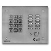 Viking Electronics VK-K-1700-3EWP Ss Handsfree Phone W/ Key Pad