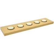 Beyond The Page MDF 5-Tealight Candle Holder-36cm x 8.9cm X.13cm