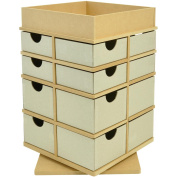Beyond The Page MDF Turntable Drawers With Tray Top, 32cm x 21cm x 21cm