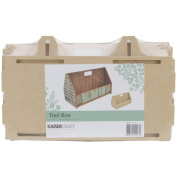 Kaisercraft SB2227 Beyond The Page MDF Tool Box, 11.25 by 14cm by 18cm