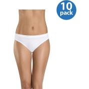 Hanes Women's Cotton Bikini Panties 10-Pack
