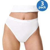Hanes Women's Cotton Hi-Cut Panties, 3-Pack