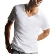 Hanes Big Men's FreshIQ ComfortSoft White V-Neck T-Shirt 5-Pack