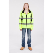 Utility Pro Wear UHV668XL High Visibility Green Full Zip Ladies Soft Shell - Extra Large