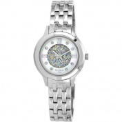 Armitron Women's MOP Dial. Crystal Accented Watch, Silver-Tone