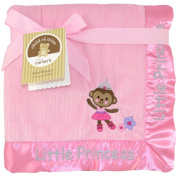 Child of Mine by Carter's Ballerina Monkey 2-Ply Ribbed Valboa Blanket