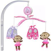 Child of Mine by Carter's Ballerina Monkey Musical Crib Mobile