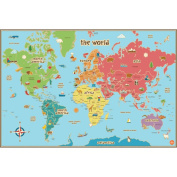 WallPops Kids World Map Decal