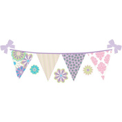 WallPops Patchwork Daisy Stripe Decals