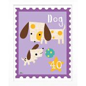 Timeless Frames Dog Animal Stamp Framed Art, 10x8