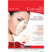 BioMiracle Rose Collagen Essence Face Masks, 5 count