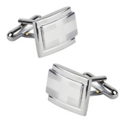 INSTEN New Classic Men`s Wedding Party High Quality Smooth Cufflinks Square Cuff Links