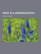What Is a Kindergarten?