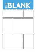 The Blank Comic Book Panelbook - Staggered, 7x10, 127 Pages