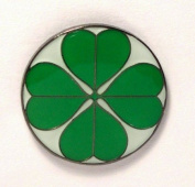 Metal Enamel Pin Badge Brooch Lucky Four Leaf Shamrock Clover
