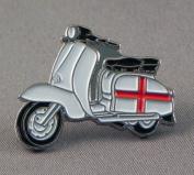 Metal Enamel Pin Badge Brooch Scooter Lambretta England Flag St. George