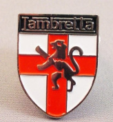 Metal Enamel Pin Badge Brooch Scooter Lambretta England St. George Shield