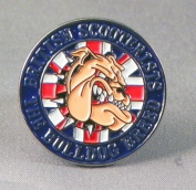 Metal Enamel Pin Badge Brooch British Bulldog Scooter Mod Vespa Lambretta Union Jack