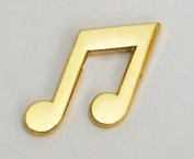 Metal Enamel Pin Badge Brooch Music Notes Crochet Quaver Gold Tone