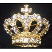 Crown Small Fashion Brooch Broach Pin Crystal Bling Wedding Bridal