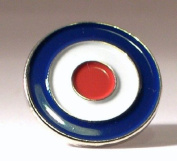 Metal Enamel Pin Badge Brooch Scooter Mod Vespa Lambretta RAF Roundel