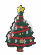 Novelty Christmas Tree Flashing Magnetic Brooch Badge