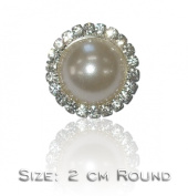 Single Pearl Vintage Fashion Brooch Pin Badge Crystal Diamante Bling Special Occasion