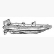 Accessories Galore Pewter Boating Pin Badge or Brooch Gift for Scarf, Tie, Hat, Coat or Bag