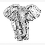 Pewter Elephant Badge or Brooch Gift for Scarf, Tie, Hat, Coat or Bag