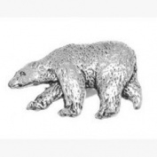 Accessories Galore Pewter Polar Bear Pin Badge or Brooch Gift for Scarf, Tie, Hat, Coat or Bag