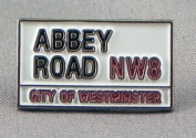 Metal Enamel Pin Badge Brooch 60's Music The Beatles Abbey Road Sign