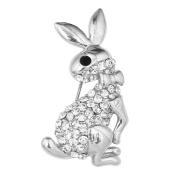 OMYGOD Crystal rabbit brooch - 2cm x 3.5cm