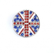 Union Jack Crystal/ Diamante/ Rhinestone Jubilee / Olympics Brooch / Pin