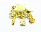 Danecraft Gold - Plated I Love Soap Operas Soaps Pin Brooch