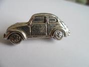 VW Beetle English Pewter pin badge